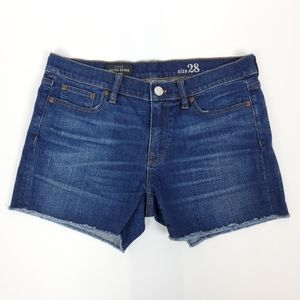 J. crew Indigo Denim Raw Hem Short